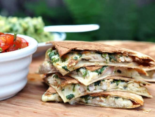 Non-spicy Chicken Quesadillas