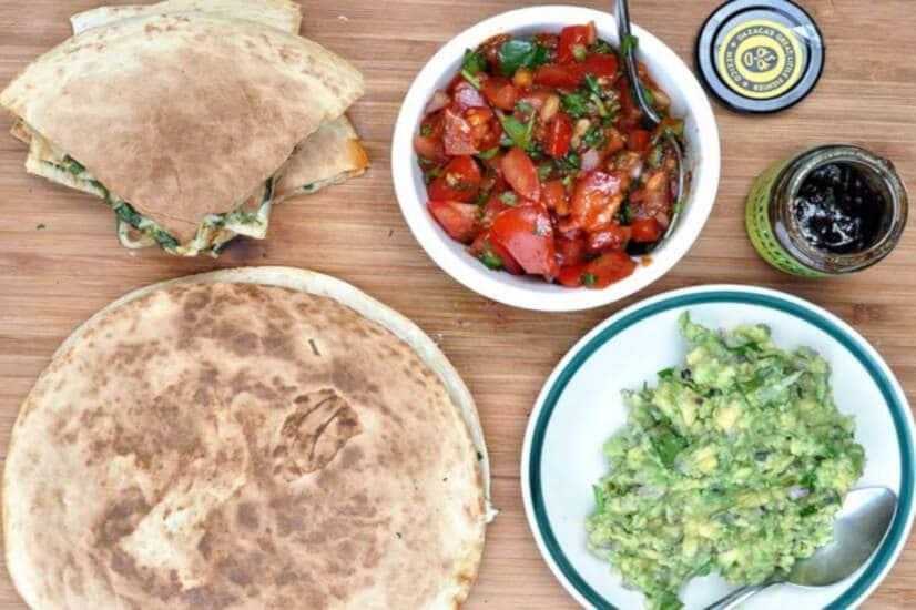 Easy Chicken Quesadillas With Chipotle Salsa
