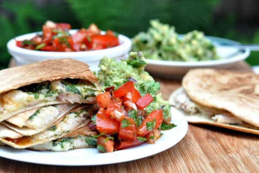 Easy Chicken Quesadillas With Chipotle Salsa