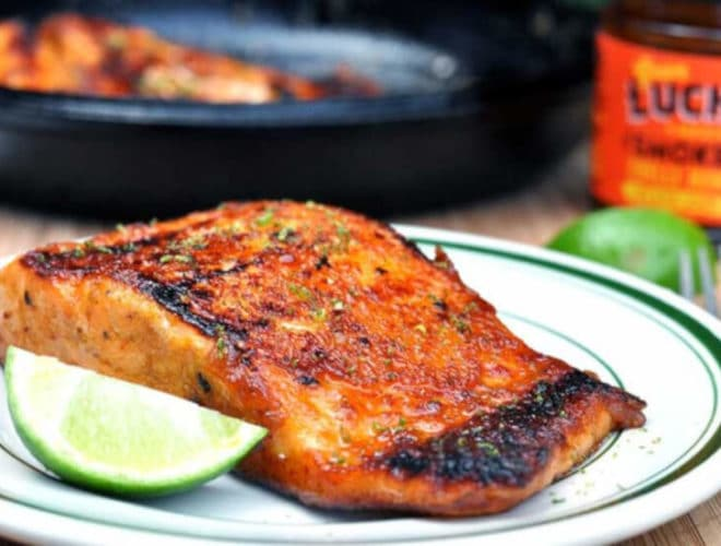 Honey and Chipotle Glazed Salmon