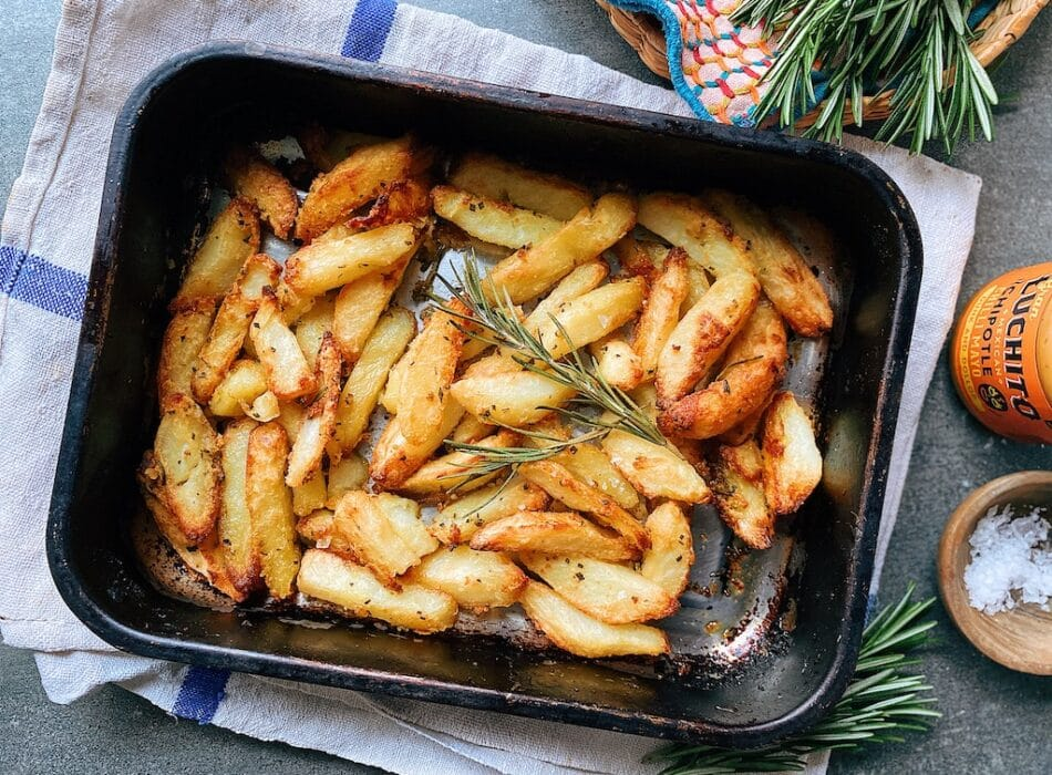 Crispy Homemade Chips finished dish