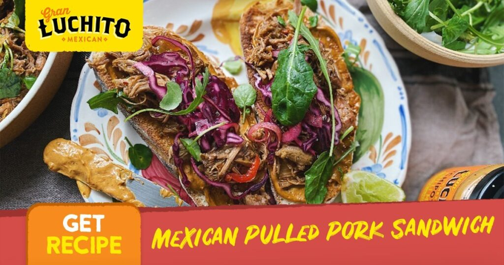 Mexican Pulled Pork Sandwich