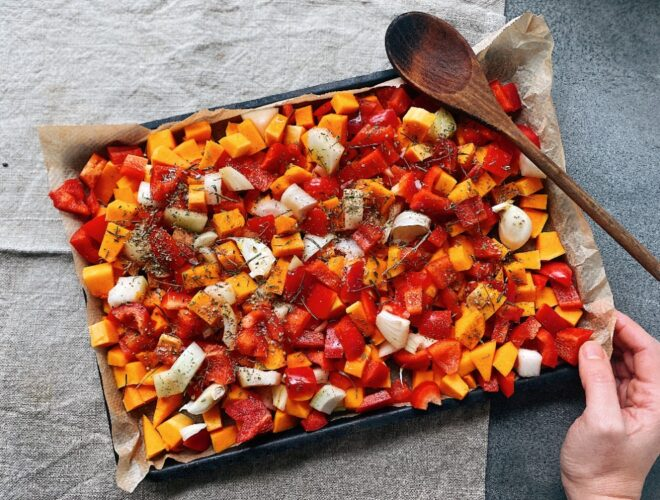Vegan Chilli Con Carne season veg prep step