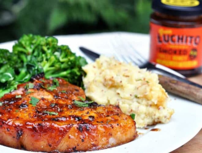Roasted Pork Chop With Chipotle Honey