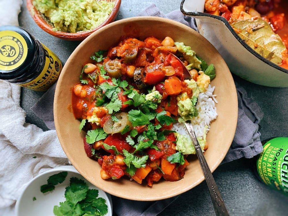 Vegan Chilli Con Carne finished dish