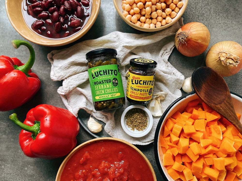 Vegan Chilli Con Carne ingredients