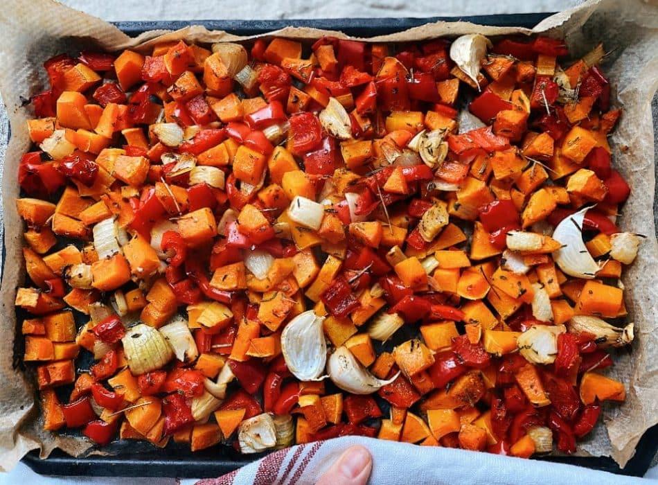 Vegan Chilli Con Carne roasted veg