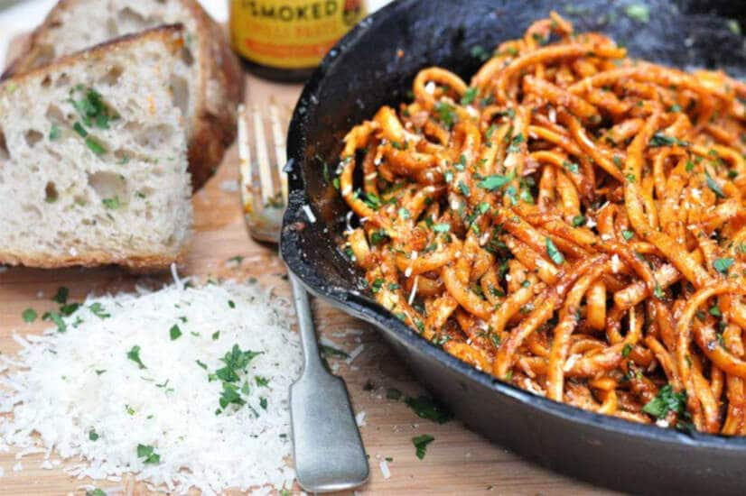 Chipotle Anchovy Pasta