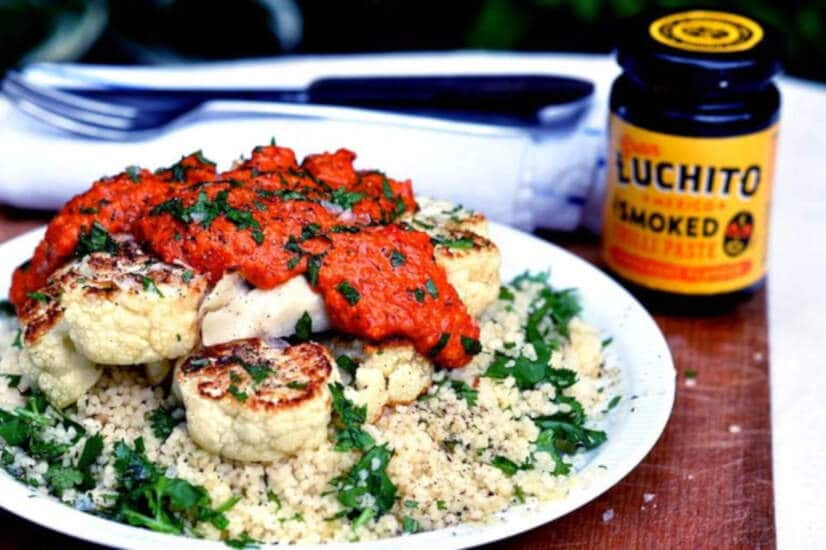 Cauliflower Steak With Romesco Sauce