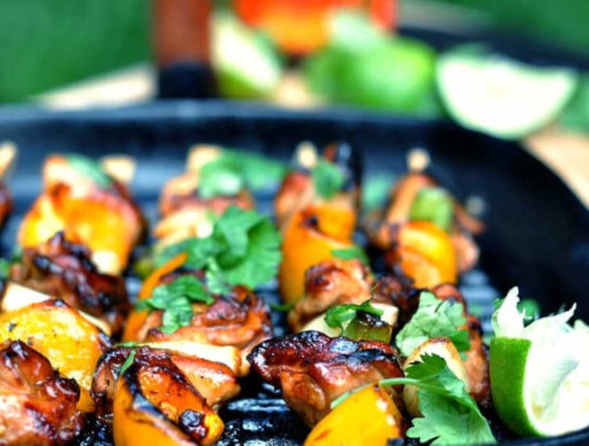 Sticky Chicken Skewers