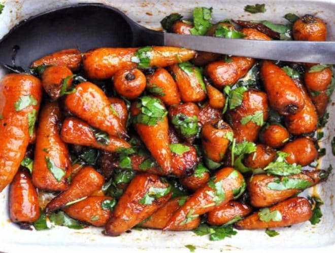 Chipotle Honey Roasted Carrots