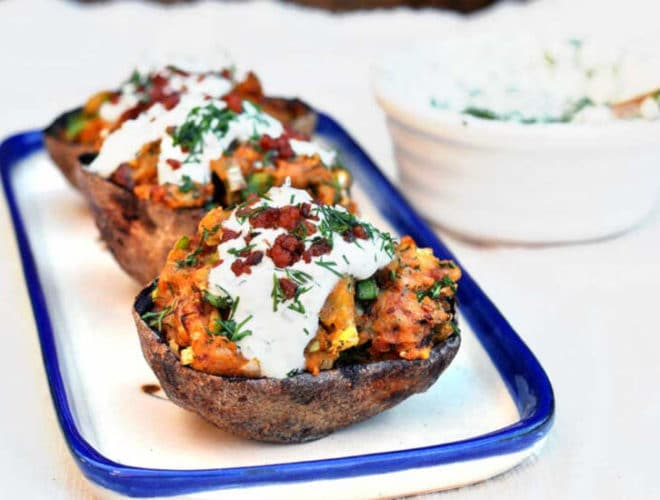 Fully loaded Potato Skins