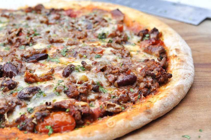 Chilli Con Carne Meat Feast Pizza