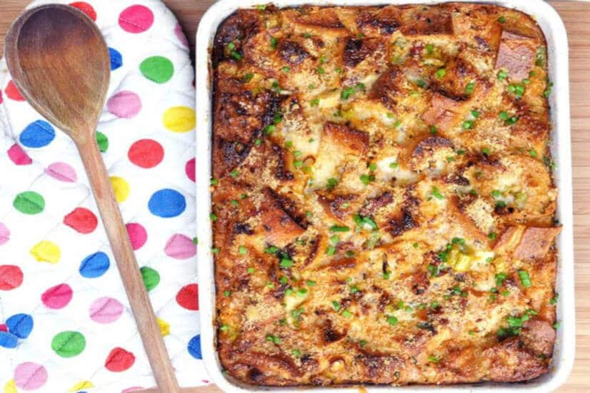 Savoury Bread and Butter Pudding