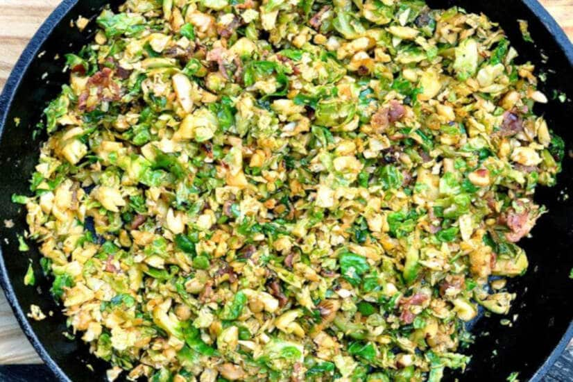 Shredded Brussels Sprouts With Bacon And Chipotle
