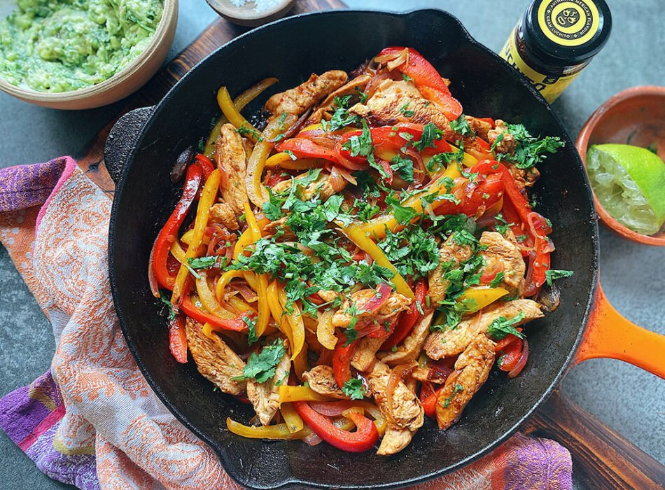 Smoky Chipotle Chicken Fajitas