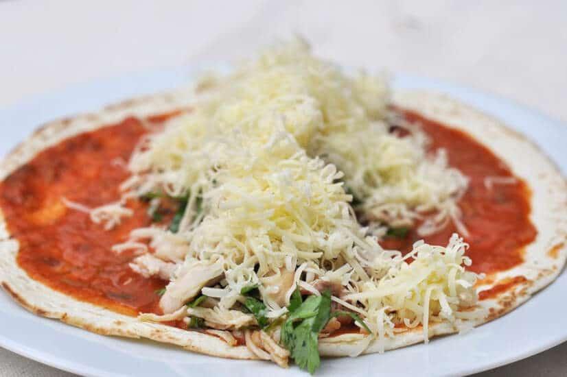 Chicken Enchiladas-grated cheese