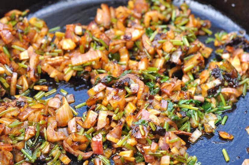 Fry Onions- Chicken Enchiladas