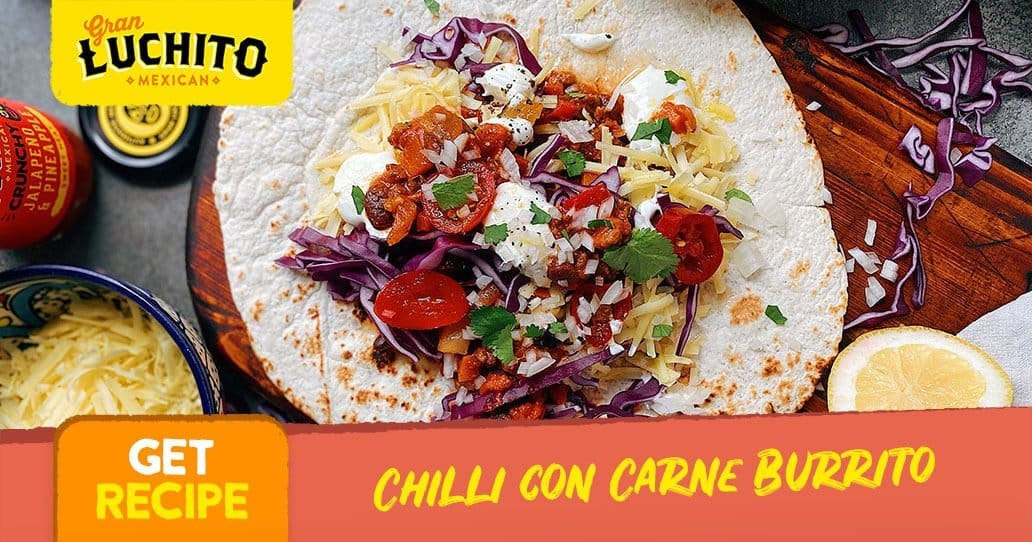 Chilli Con Carne Burrito - Leftover Chilli Con Carne Recipes