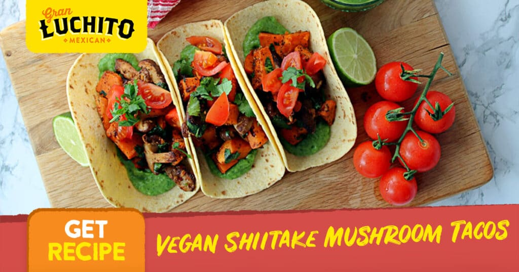 Vegan Shiitake Mushroom Tacos