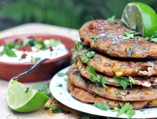 Chorizo & Corn Pancakes
