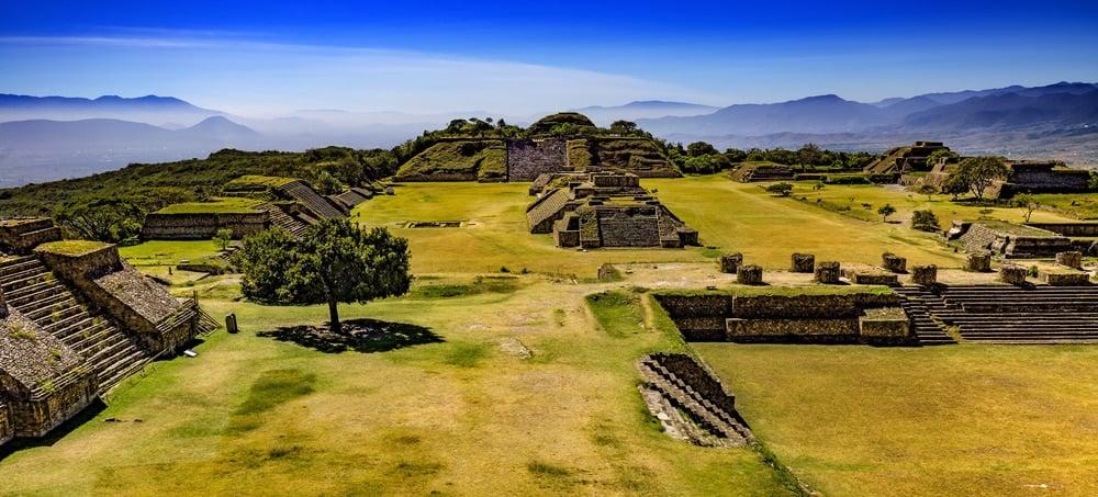 Monte Alban Ruins Oaxaca Mexico