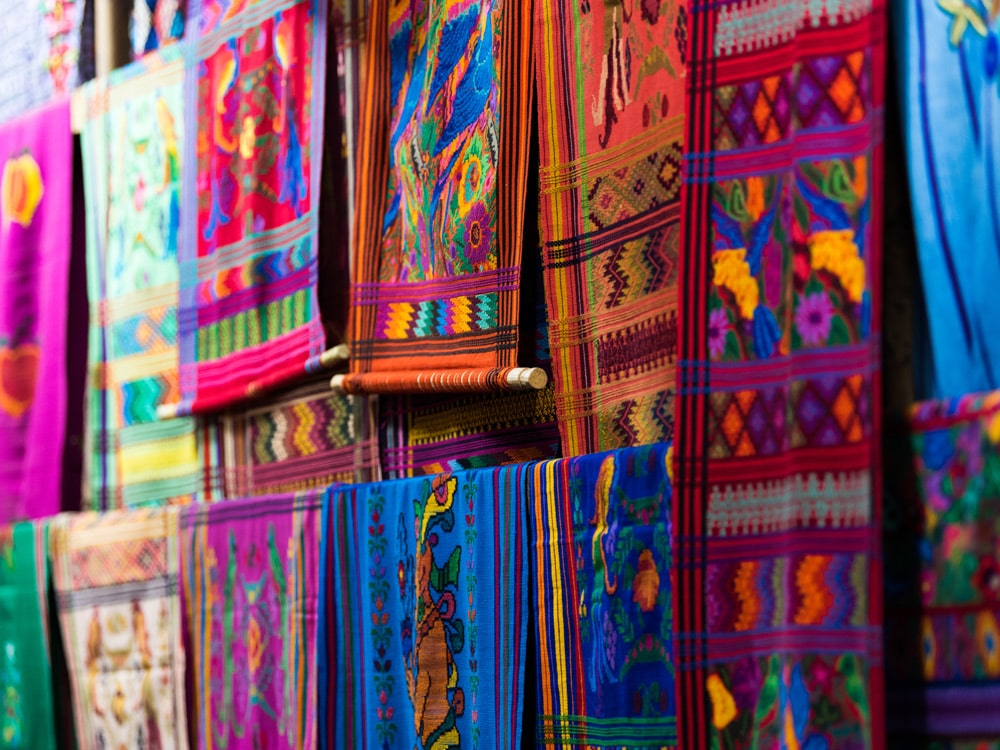 Oaxaca Market Colourful Textiles