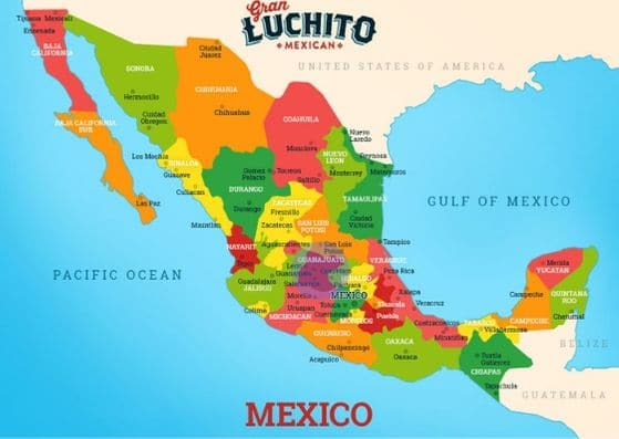 Map showing where San Miguel de Allende is in Mexico