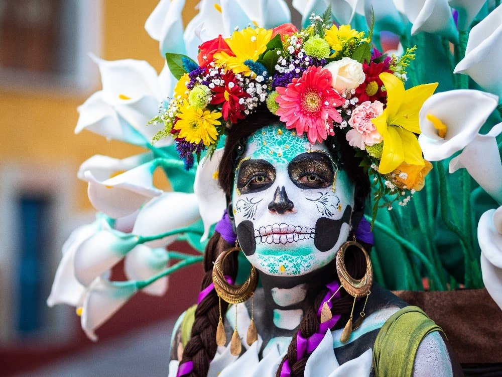 skull day of the dead celebration