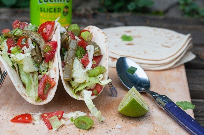 finished dish authentic cactus salad