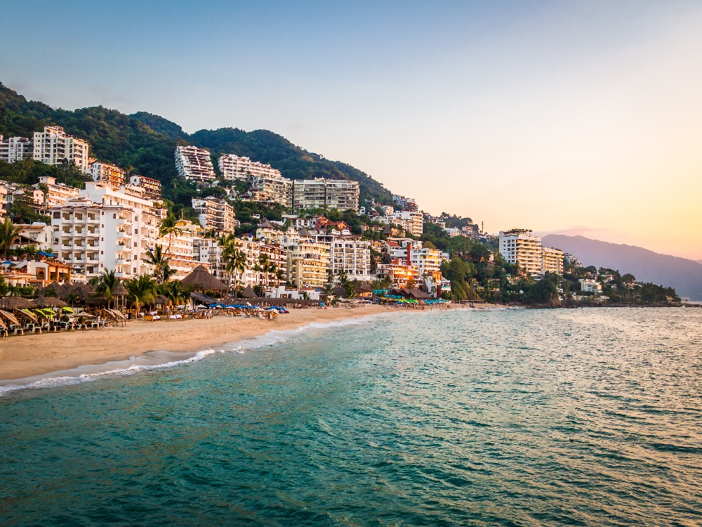 Coastline in Puerto Vallarta