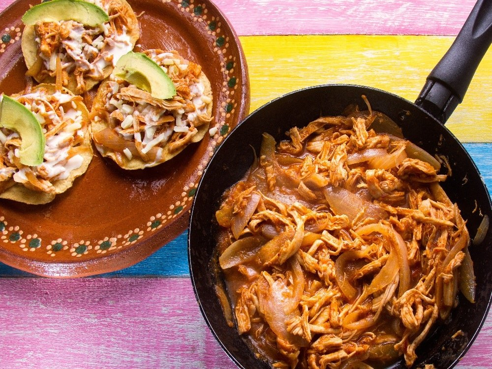 Traditional Tinga dish from Puebla