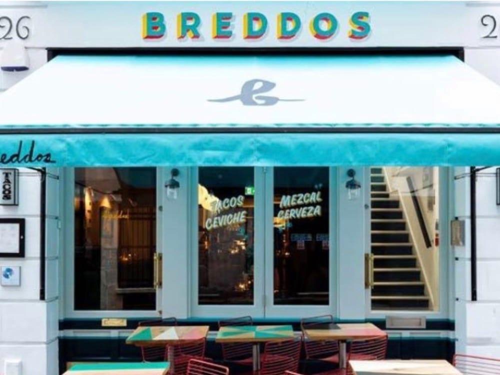 exterior of Breddo's Tacos