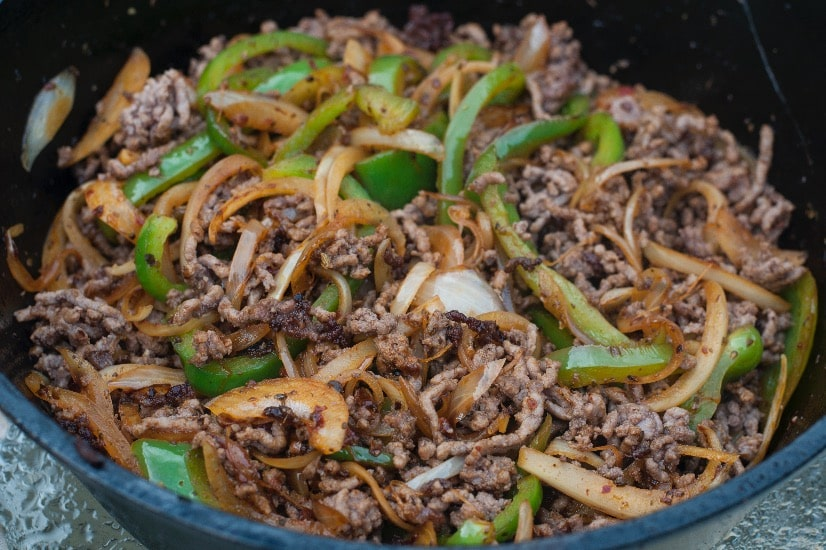 beef cooking for easy beef tacos