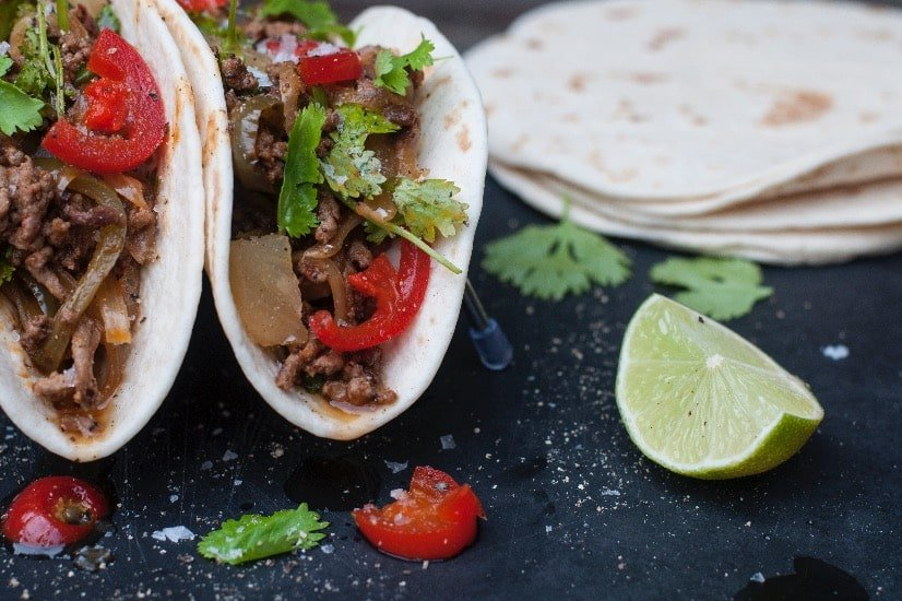 finished dish of easy beef tacos