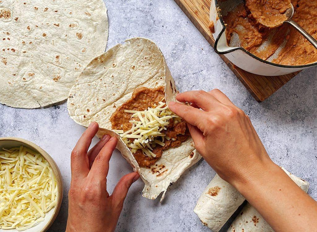 Refried Bean Burrito
