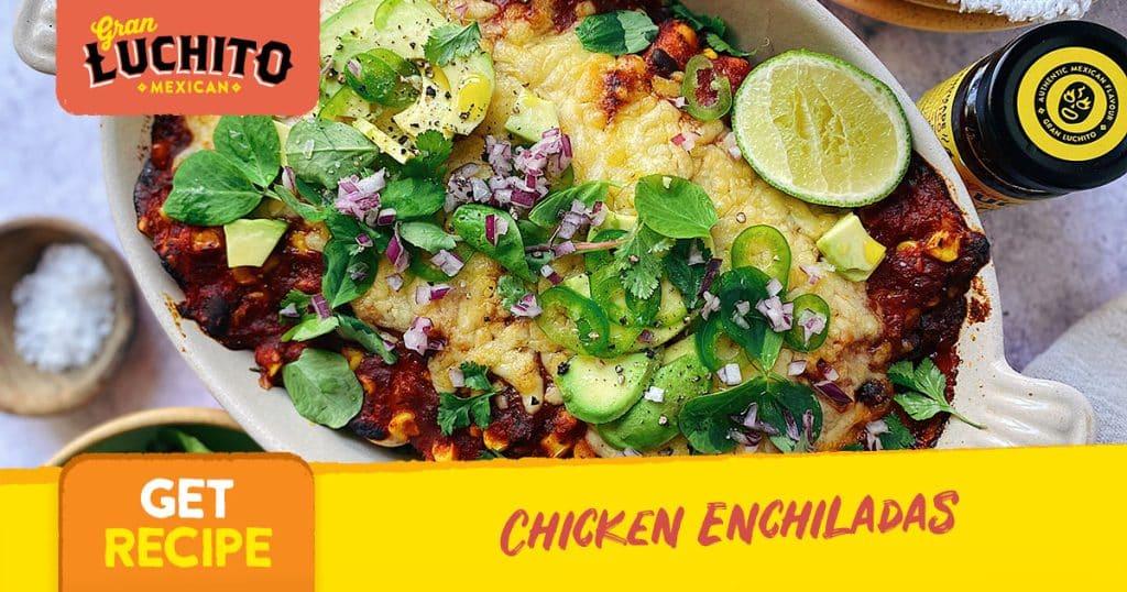 Chicken Enchiladas finished dish