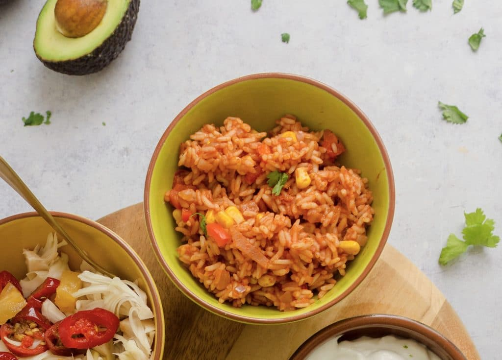 Mexican Rice finished dish