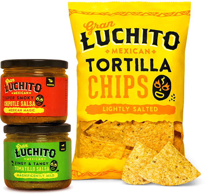 Gran Luchito Mexican Tortilla Chips and Salsa.