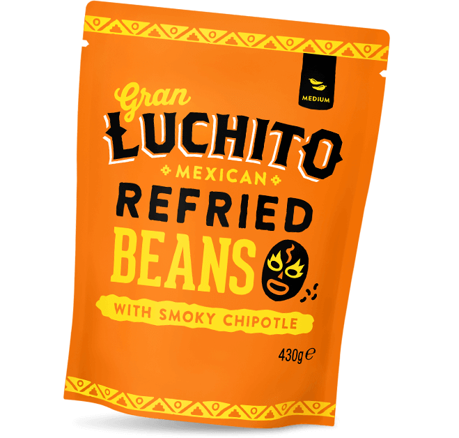 Gran Luchito Mexican Refried Beans.