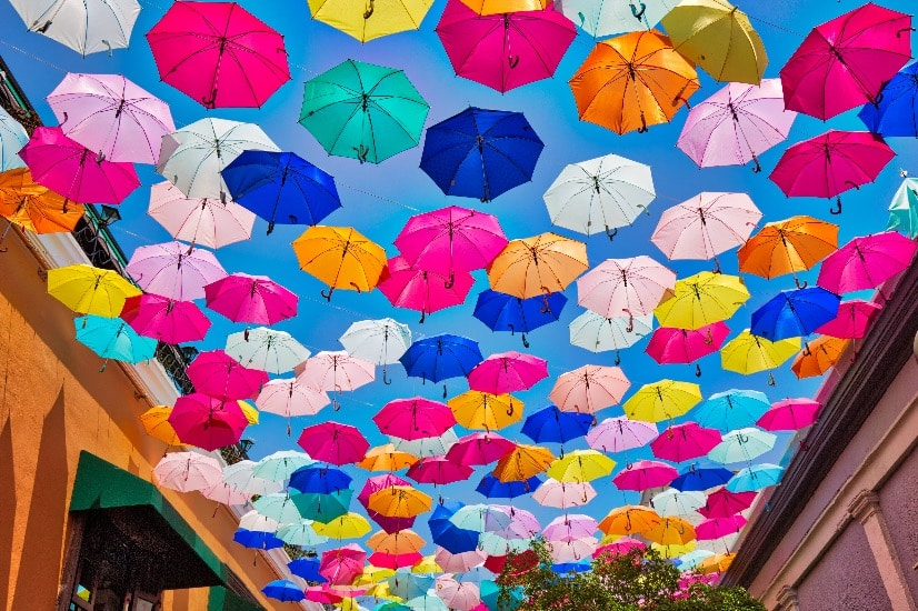 Umbrellas in Tlaquepaque