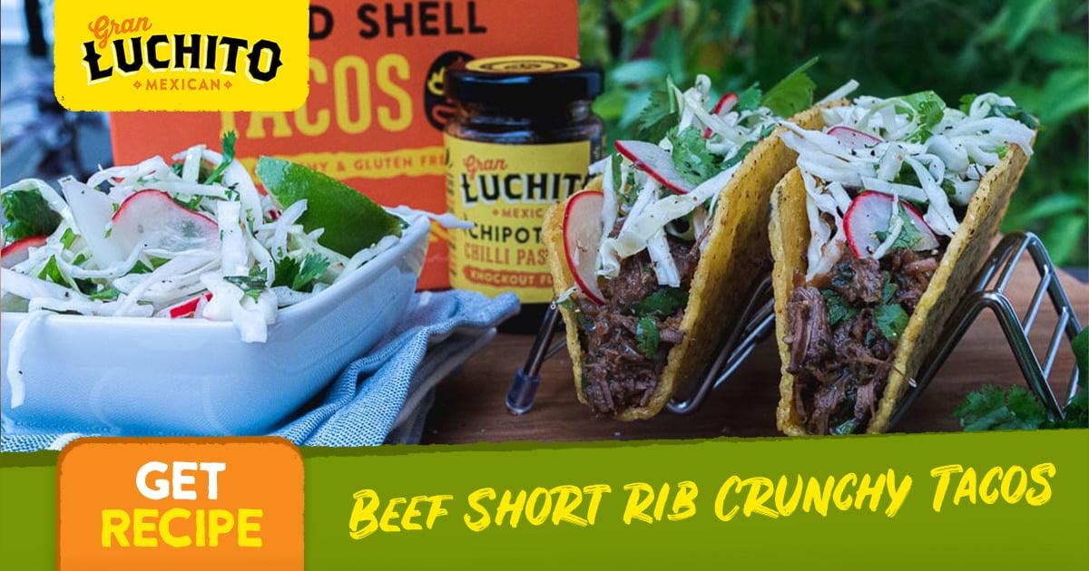 Beef Short Rib Crunchy Tacos