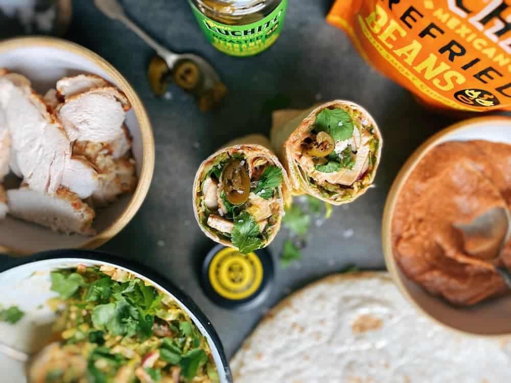 Leftover Turkey Burrito