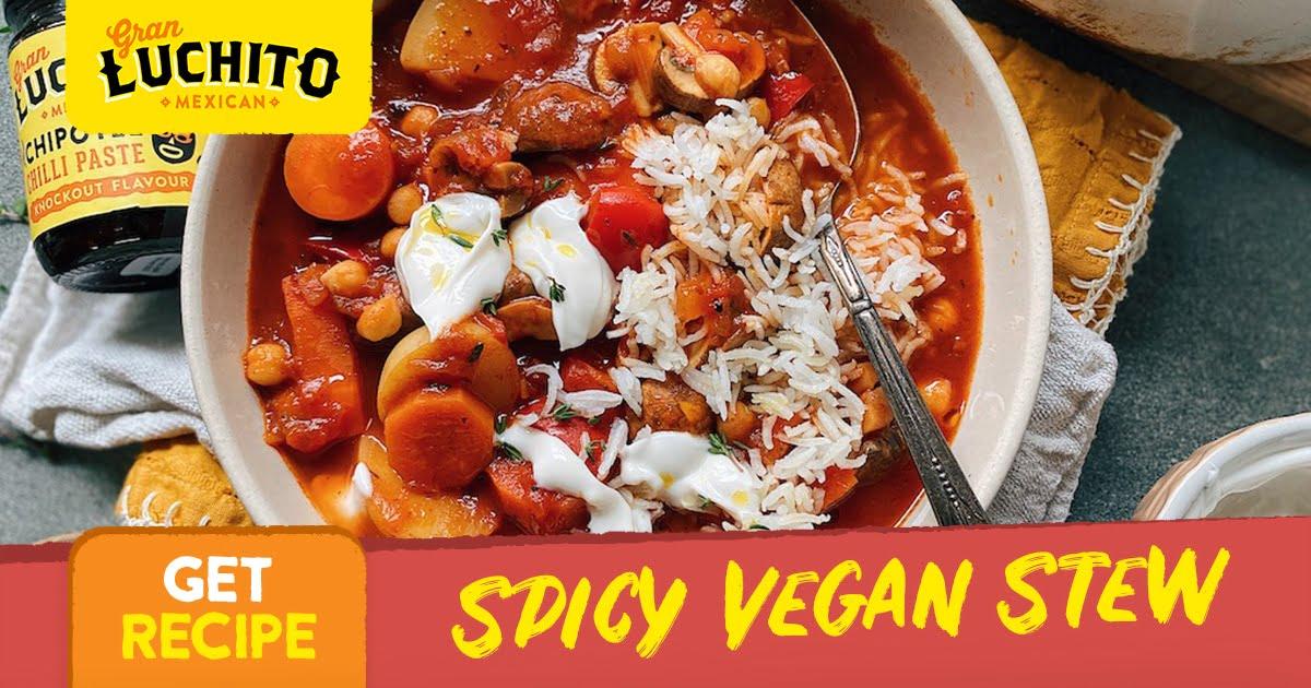 Spicy Vegan Stew - Vegan Mexican Recipes