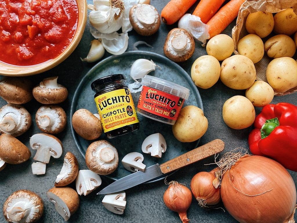 Vegan Mexican Stew ingredients
