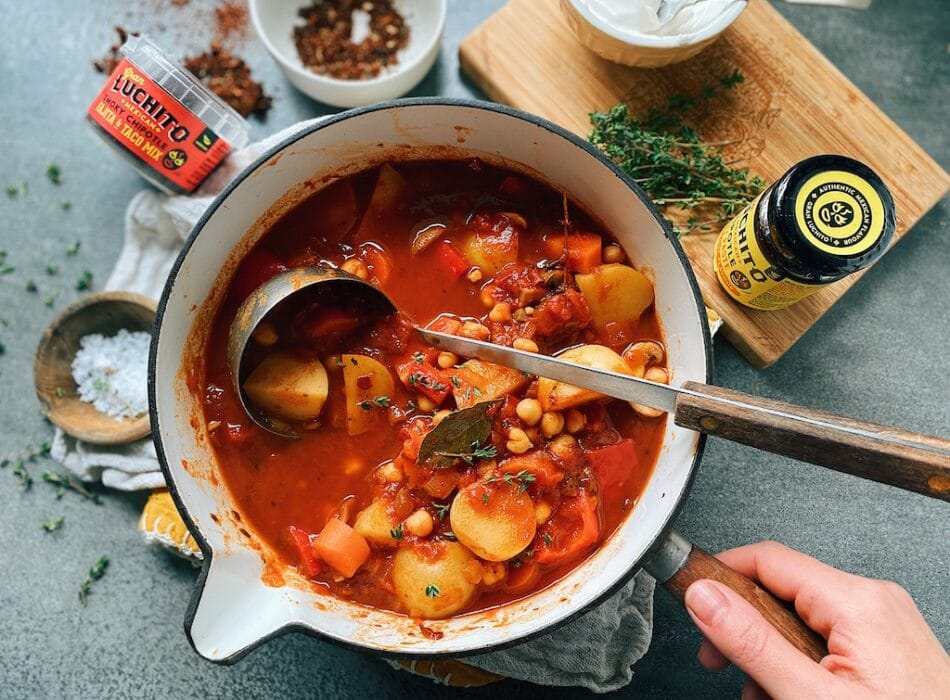 Vegan Mexican Stew Finished dish