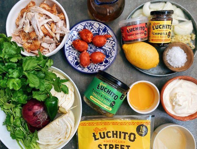 Easy Chicken & Chorizo Tacos